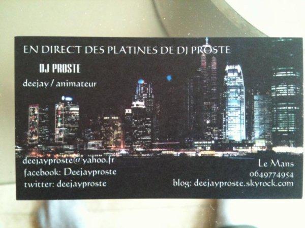 carte de visite DJ PROSTE