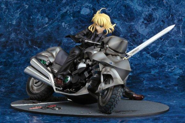Saber figurine - Moto avec son Excalibur