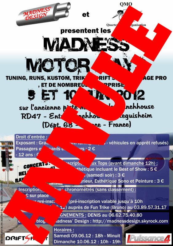 3EME MEETING MADNESS' DESIGN : MADNESS MOTOR DAYS !