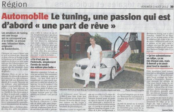 P'tit Seb' dans L'Alsace !!! - 03.08.12