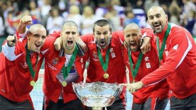 Victoire Coupe Davis 2010