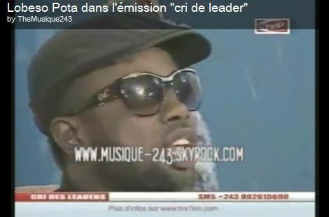 """Lobeso Pota dans l'émission """"cri des leaders"""""""