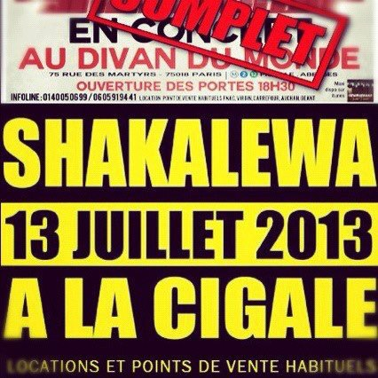 Shakalewa - Sexy Lady // EN CONCERT LE 13/07/13 A LA CIGALE