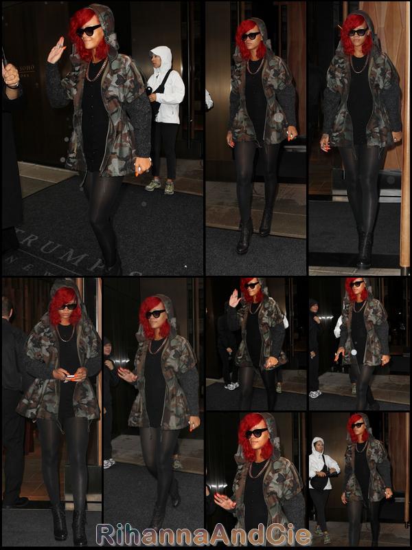 Lundi 27 Septembre 2010 : Rihanna quitte son hôtel pour se rendre sur le tournage de la pub Kodak
