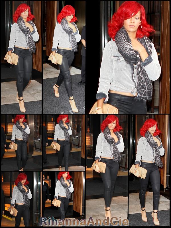 Mardi 28 Septembre 2010 : Rihanna quitte son hôtel New-Yorkais pour se rendre au restaurant