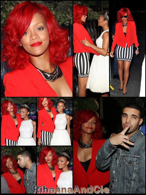 Mardi 28 Septembre 2010 : Rihanna à l'after-party du concert de Drake