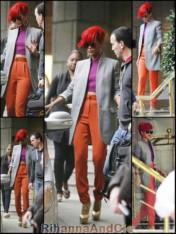 Vendredi 1er Octobre 2010 : Rihanna quitte sont hôtel de Londres pour se rendre dans les studio de la radio BBC