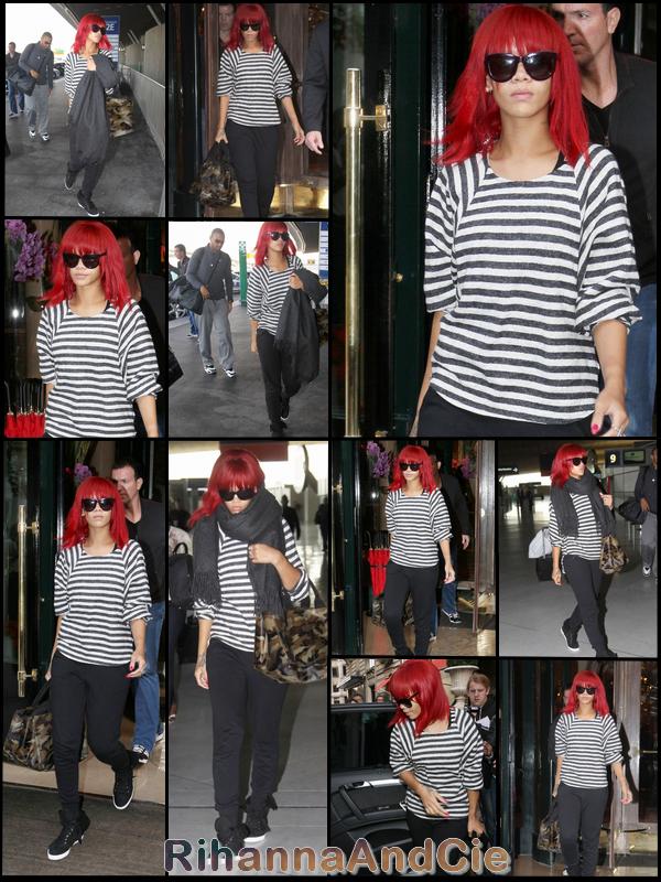 -- Samedi 9 Octobre 2010 : Ce qui devait arriver est arrivé Rihanna et Matt on étaient apperçue à l'aéroport de Roissy Charles de Gaulle pour quitaient Paris se matin après 3 jours dans la capital pour une direction inconnu, certain annonce l'Allemangne d'autre l'Asie ...  --