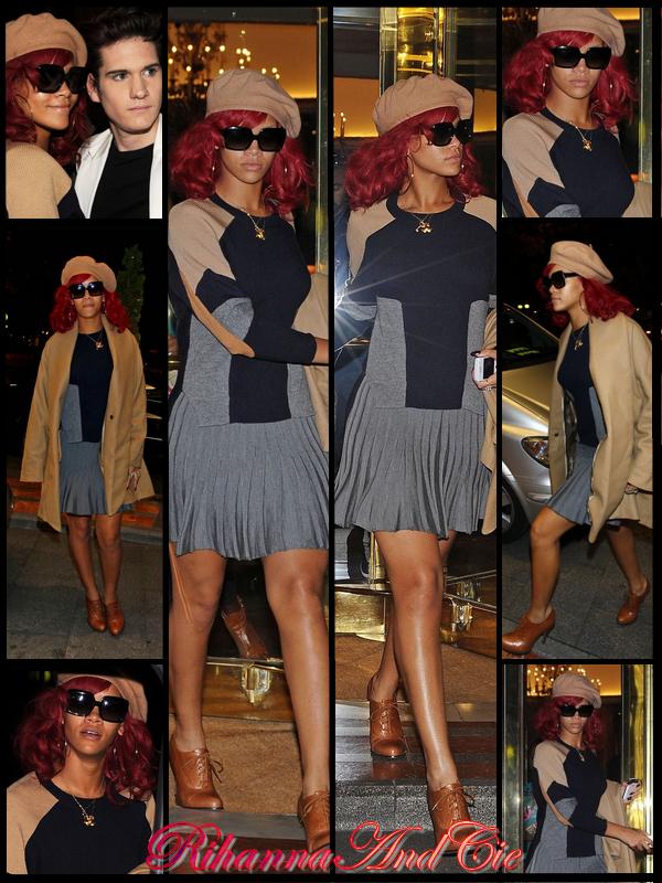 """-- Vendredi 5 Novembre 2010 : A peine arrivée, Rihanna est déjà de sortis en Espagne ou elle est actuellement principalement pour les MTV Europe Music Awards 2010 qui se dérouleront Dimanche Soir. Ces donc en toute logique que notre Rihanna c'est rendue au répétition pour cette grande soirée. Elle nous a d'ailleurs promis une performance qui """"soufflera l'esprit"""" ..--"""