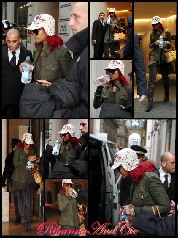 """-- Mardi 9 Novembre 2010 : Rihanna a était aperçue quittant son hôtel avec ces longue et magnifique cuissarde signée Louboutin pour se rendre dans les studio du X-factor Italien où elle interprètera le premier single extrait de sont cinquième album """" Only Girl (in The World)"""" .. --"""
