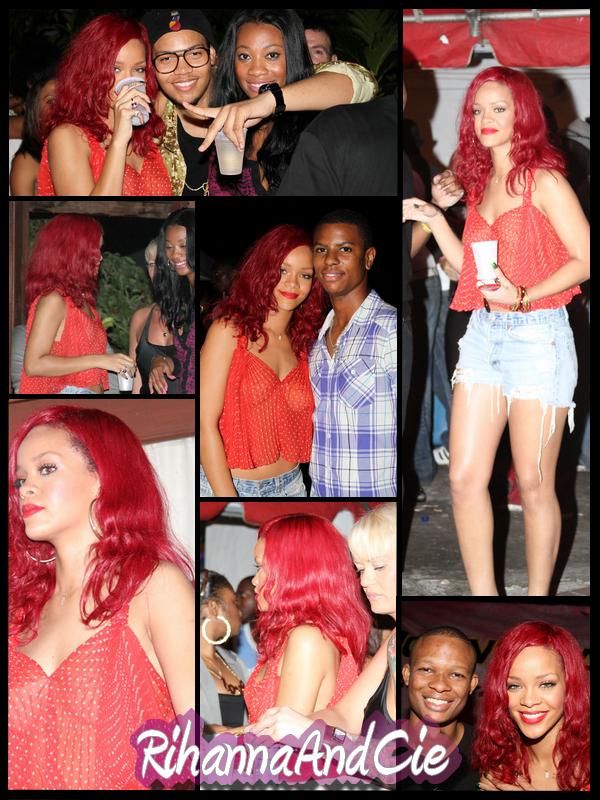 -- ▬ Mercredi 22 Décembre 2010 : Le soir de son arriveé sur son île natale la belle Rihanna accompagnée de sa BFF Melissa ce sont rendues a une fête baptisée « The House Party » qui se déroulée au club barbadien « Suburban », Rihanna a pu y retrouvée sont frère Rorrey mais aussi plusieurs amis d'enfance ..   --