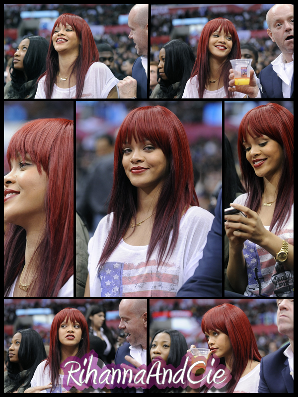-- ▬ Mercredi 12 Janvier 2011 : Rihanna c'est accordée  dans son emplois du temps très chargé petite pause sport est c'est rendue ce Mercredi au Staples Center de Los Angeles pour assistée au match opposant les Miami Heat au Los Angeles Clippers..  --