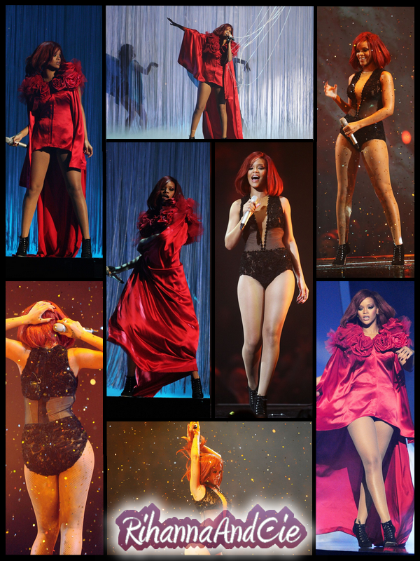 """-- ▬ Voici plusieurs photos de la magnifique performance de Rihanna lors des Brit Awards 2011. La belle a inteprétée un Medley de son album Loud, avec ces 3 tubes: """"Only Girl (in The World)"""" """"S&M"""" & """"What's My Name ?"""", Rihanna a litéralament mis le feu à l'O2 de Londres dans ces 2 magnifiques tenues, est a même reçue une ovation à la fin de son show.. Congratulation Rihanna  --"""