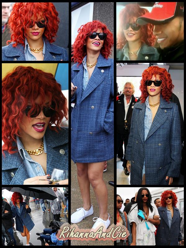 -- ▬Dimanche 12 Juin 2011 : Rihanna était se dimanche invitée au Grand prix du Canada qui avais lieu sur le circuit Gilles Vilneuve à Montreal.. La belle Barbadienne a pu rencontrer plusieurs stars de la course auto-mobile dont Sebastien Vettel, l'actuel champion du monde, Lewis Hamilton, champion du monde 2009 et petit ami de l'ex Pussycat Dolls Nicole Scherzinger et bien d'autres encore.. Malheureusement a cause du mauvais temps la course fut stopper pendant plus de 2h et Rihanna a dû partir a cause de son emplois du temps chargé..--
