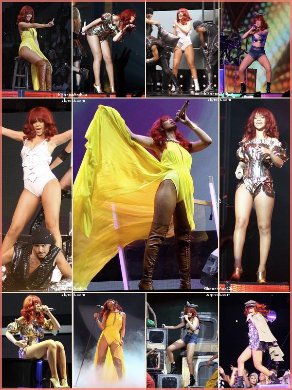 -- ▬14 Juillet 2011 : Rihanna a donnée un concert dans la ville de Sunrise qui se situe en Floride --