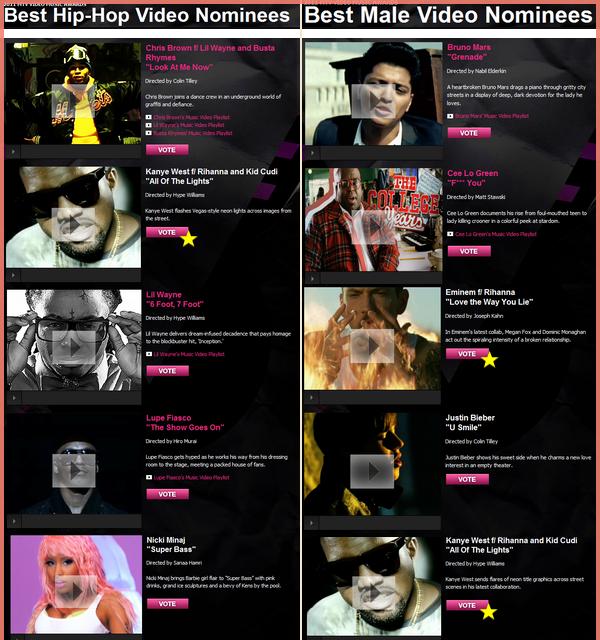 -- Rihanna est nommée sept fois pour les MTV Vidéo Music Awards 2011 --