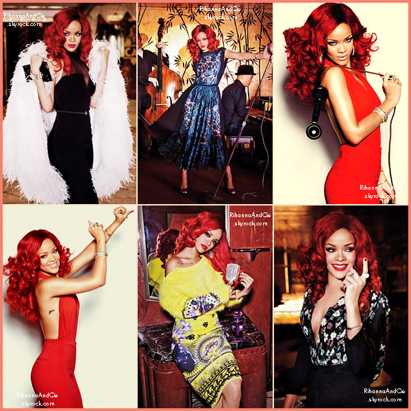 -- Photo-Shoot de Rihanna  par Ellen Von Unwerth pour le magazine  Glamour .. --