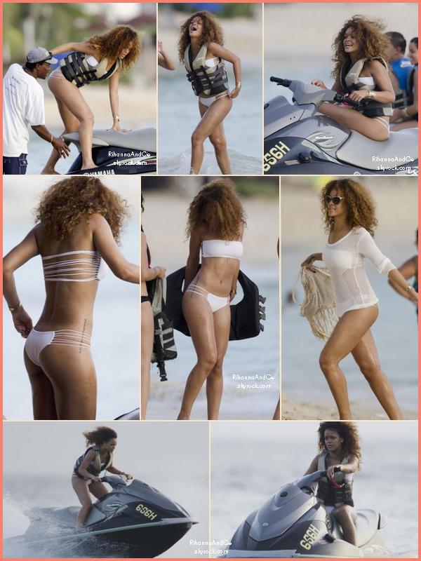 -- 4 Août 2011 : Rihanna était avec des amis et de la famille à la plage toujours sur son île natal, La Barbade.. --