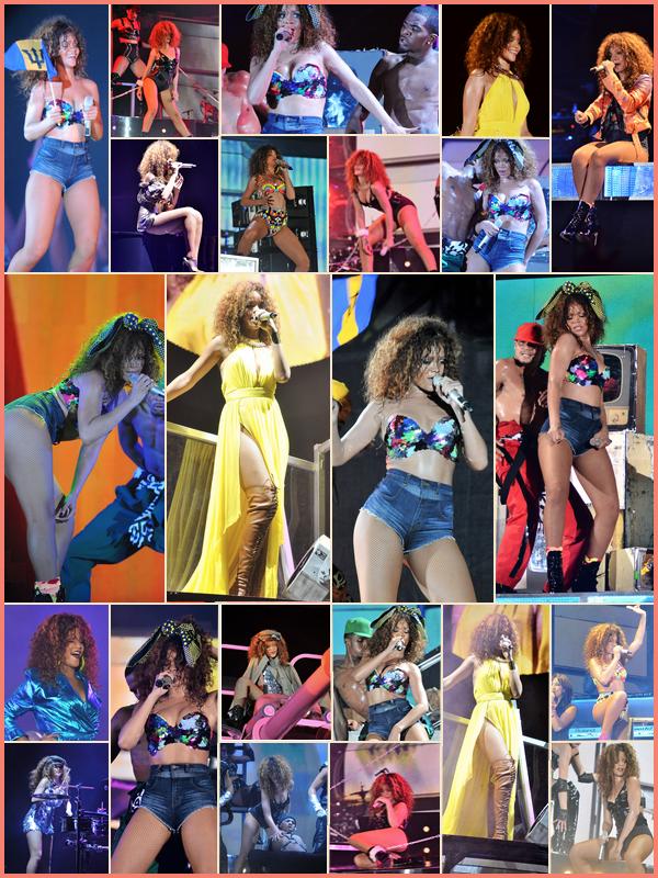 -- 5 Août 2011 : Rihanna a donnée un concert sur son île natal,  La Barbade pour son LOUD Tour, mais cette fois en Brune --