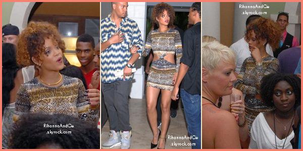 -- 5 Août 2011 : Après sont concert, Rihanna  c'est rendue à l'after-party orgranisé par son frère Rorrey.. --
