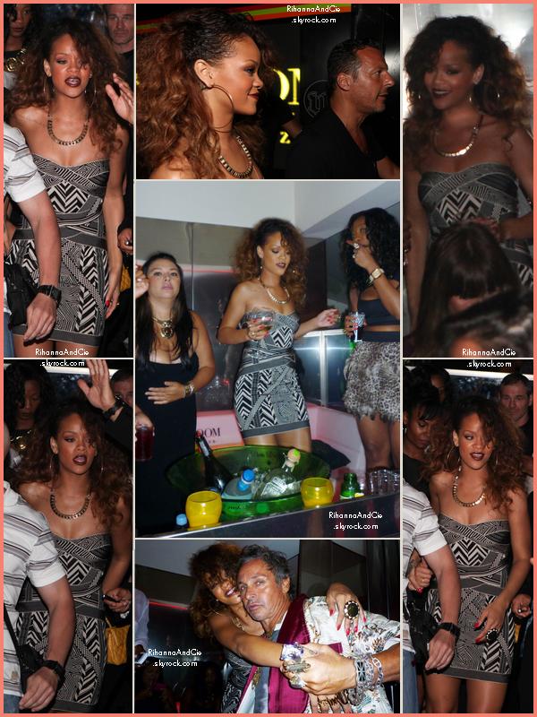 -- 22 Août 2011 : Rihanna était au VIP Room de Jean Rock toujours dans la ville de Cannes en France --