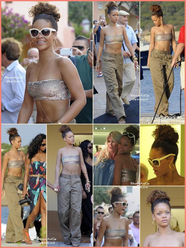 -- 26 Août 2011 : Rihanna, jamais seul, est partie faire du Shopping dans les rues de la Sardaigne en Italie.. --