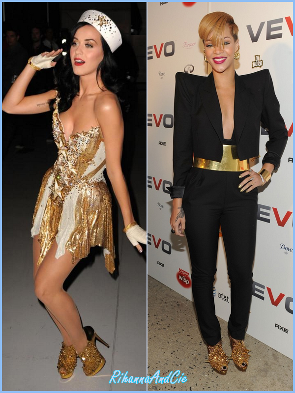 --Katy Perry & Rihanna portent les même Louboutin--