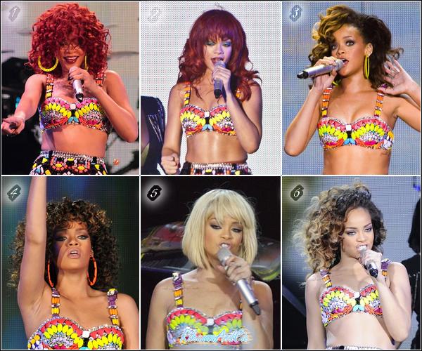 - Les différentes coupes de Rihanna pendant son LOUD Tour :  -