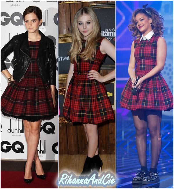 - Emma Watson, Chloe Moretz & Rihanna portent la même robe signée Alexander McQueen  -