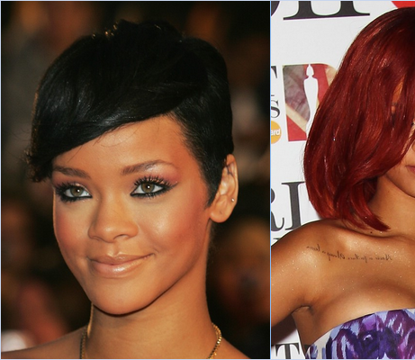- - Rihanna aux Brit Awards : En 2008 / 2011 / 2012..- -