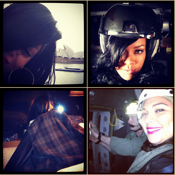 -- Photos postées par Rihanna sur Instagram, une application en lien avec Twitter.. --