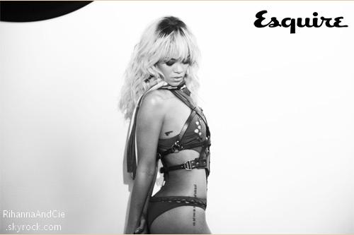 - - Premières photos du shoot de Rihanna pour la magazine Esquire : - -