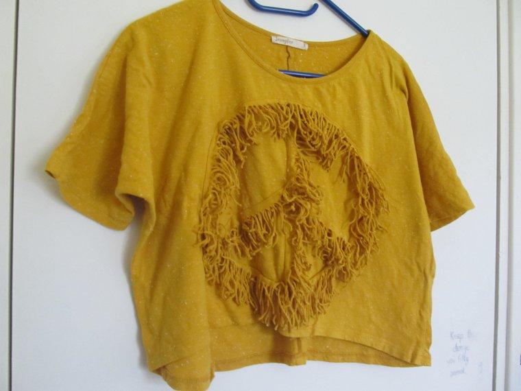 teeshirt jaune peace t36 6e