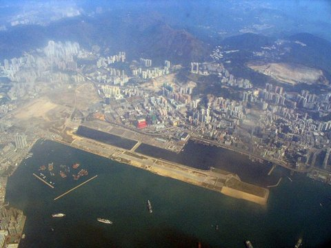 Kai Tak Checkerboard approach Old HKG Airport
