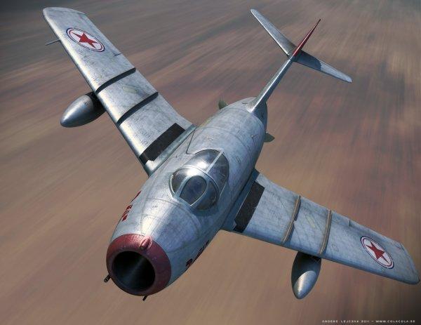 LE MIG 15 Celebrissime chasseur à réaction qui a donné beaucoup de soucis aux Américains en Corée