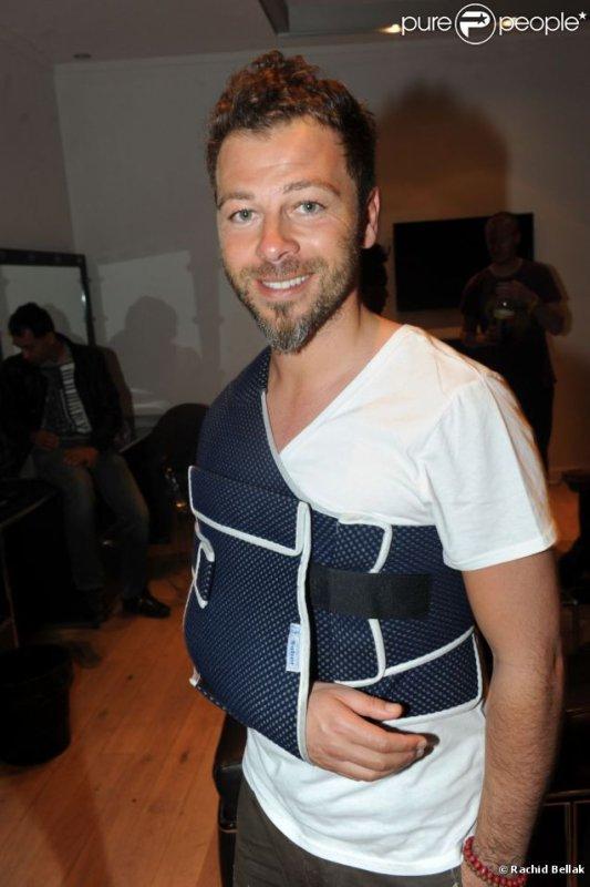 Souriant et motivé malgré son handicap, Christophe Maé s'est donné à 200%