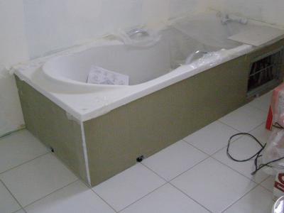 Contour de la baignoire notre maison puis la vie ici - Contour de baignoire ...
