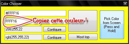 Tuto : créer son avatar + test couleur sur dd
