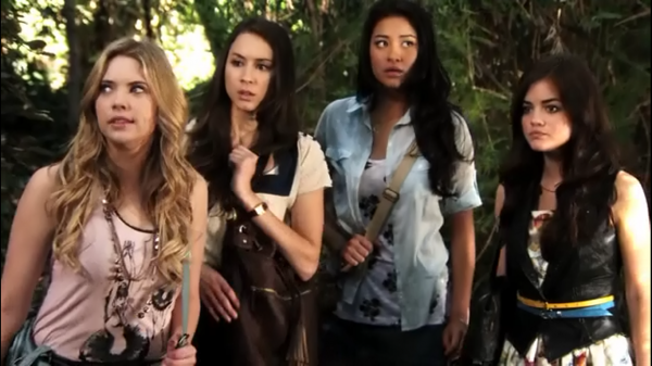 1x03 (To Kill A Mocking Girl) : Aria, Emily, Hanna & Spencer