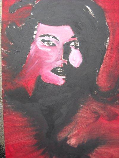 Peinture à l'huile sur contre plaqué