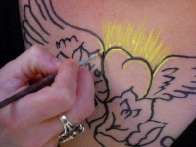 peinture sur peau