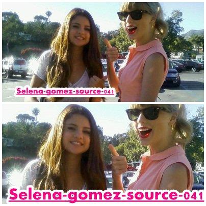 Selena et Taylor Swift sont allé manger dans un restaurant .