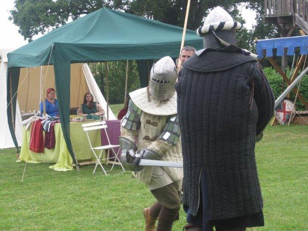 Entrainement au combat médiéval