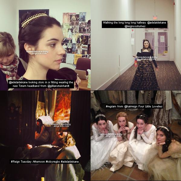Des photos de Adelaide sur le tournage de Reign.