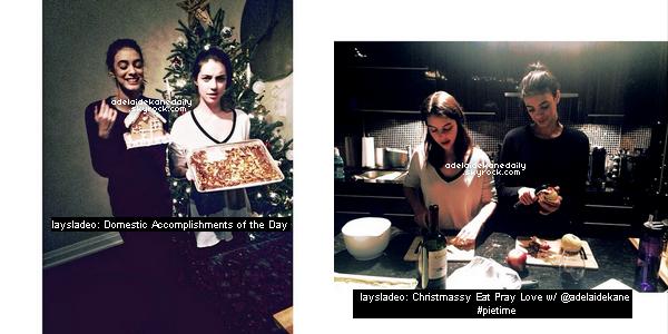 14 Décembre 2014 - Adelaide et son amie Laysla ont fait de la pâtisserie.