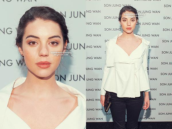 14 Février 2015 - Adelaide était au défilé de Son Jung Wan à la Fashion Week de New York.