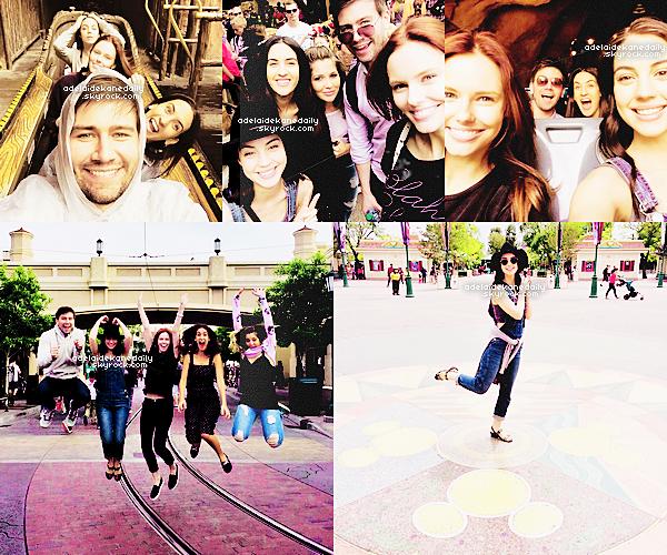 05 Mai 2015 - Adelaide, Torrance, Alyssa et des amis étaient a Disneyland.