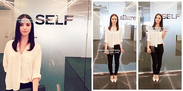 13 Mai 2015 - Adelaide était à Condé Nast à New York où elle a eu un meeting avec les magazine Allure et SELF.