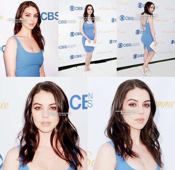 18 Mai 2015 - Adelaide et ses co-stars de Reign étaient a la CBS TV Studios Summer Soirée.