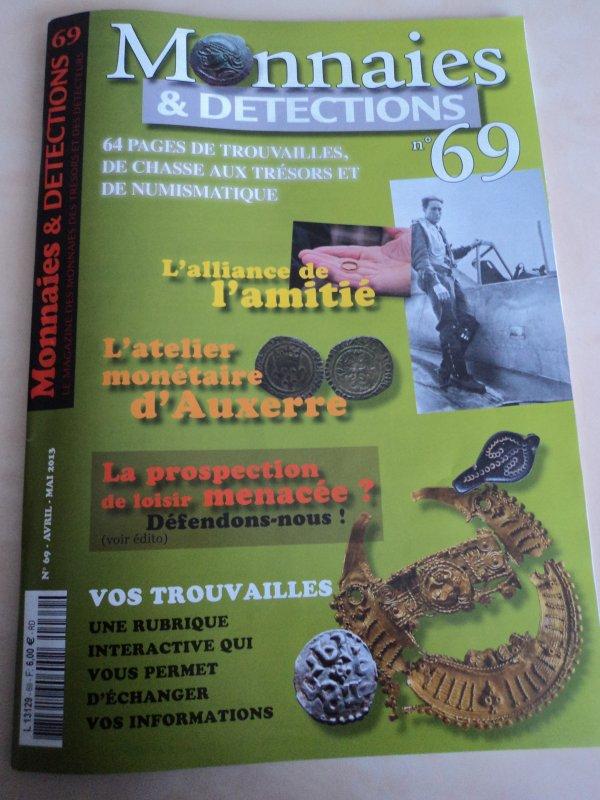 """Article dans le magazine """"Monnaies et détections"""""""